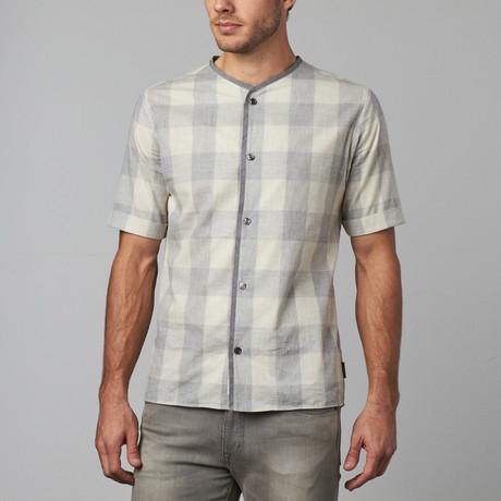 Grayson Short-Sleeve Button Down // Light Grey