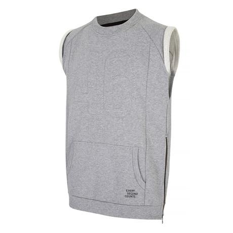 Rest Day Sleeveless Sweatshirt // Dark Grey Marl