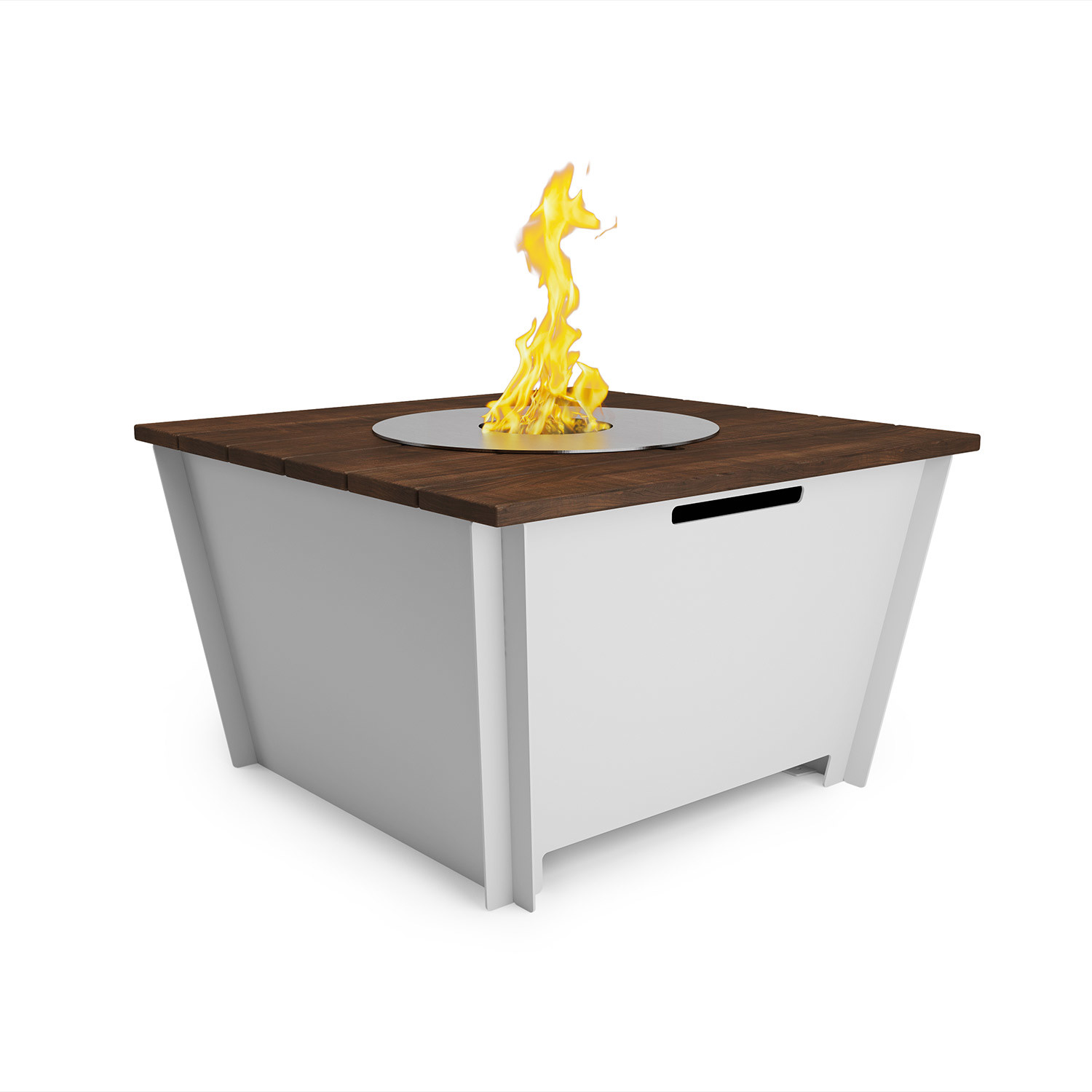 Fire table 27 dark brown groovebox touch of modern for Concreteworks fire table