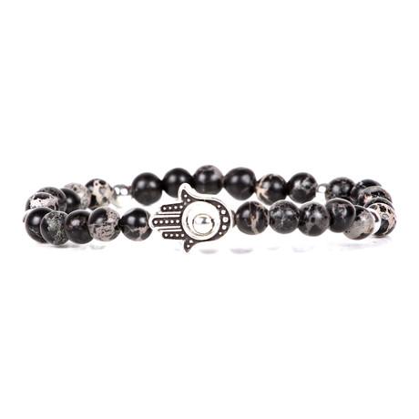Kaan Beaded Bracelet // Black + Brown