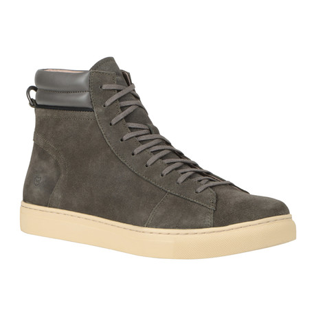 Remsen High-Top Sneaker // Gun + Cream