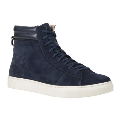 Remsen High-Top Sneaker // Navy + White