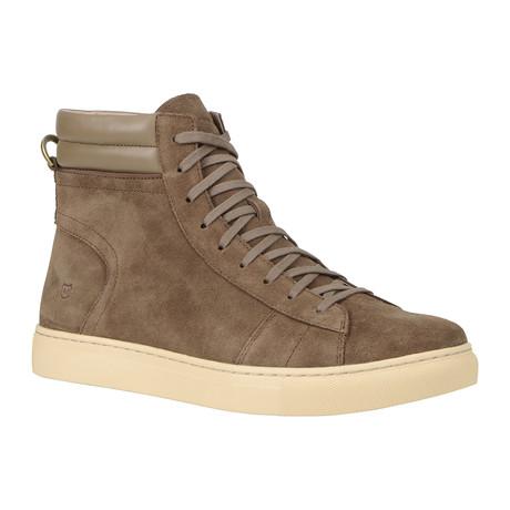 Remsen High-Top Sneaker // Tobacco + Cream