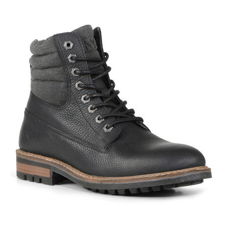 Radcliff Padded Lug Boot // Black + Grey