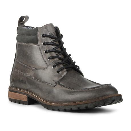 Yates Lug Boot // Grey + Dark Grey