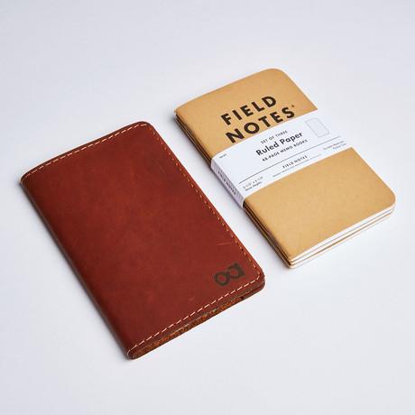 Pocket Notebook Cover // Saddle