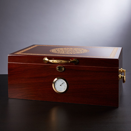 Large Patterned Humidor