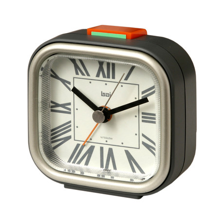 Squeeze me travel alarm clock roma white thomas bai for Touch of modern clock