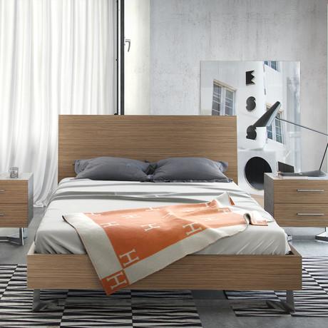 Broome Bed // Latte Walnut (Queen)