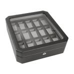 Windsor // 15 Piece Watch Box (Black + Purple)