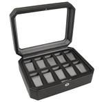 Windsor // 10 Piece Watch Box (Black + Purple)