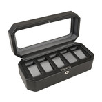 Windsor // 5 Piece Watch Box (Black + Purple)