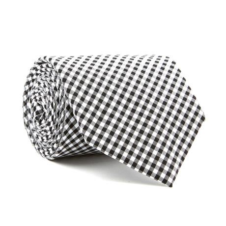 Petite Gingham Tie // Black