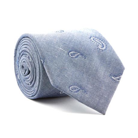 Chambray Teardrop Tie // Warm Blue
