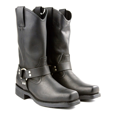 12'' Lawless Biker Boot // Black (US: 6)