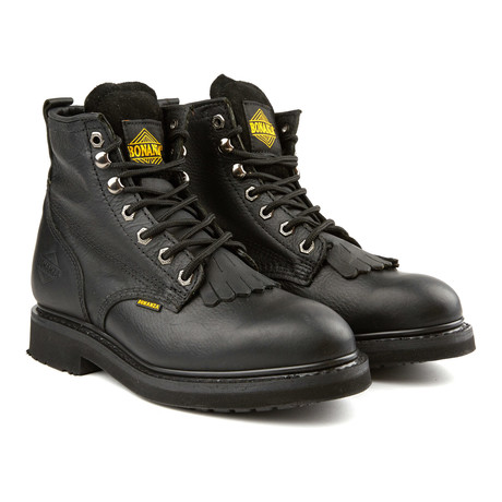 6'' Kiltie Boots // Black (US: 6)