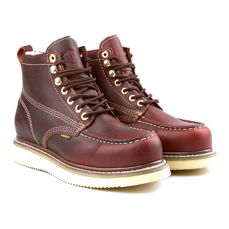 6'' Classic Moc Wedge Boot // Burgundy (US: 6)