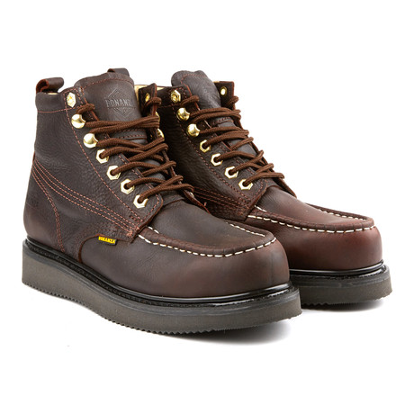 6'' Classic Moc Wedge Boot // Dark Brown (US: 6)