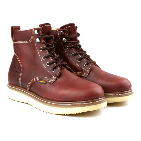 6'' Classic Round Wedge Boot // Burgundy (US: 6)