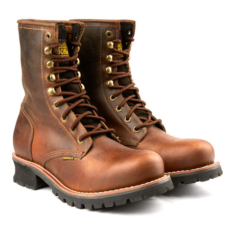9'' Rebel Rough Round Logger Boot // Brown (US: 6)