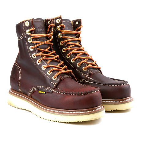 8'' Classic Moc Wedge Boot // Burgundy