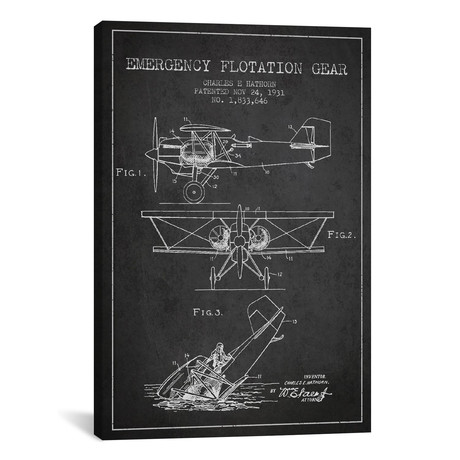 Float Plane Patent Blueprint // Charcoal