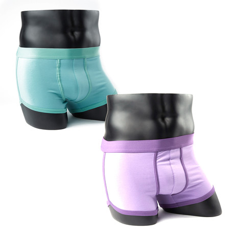 Boxer Briefs // Turquoise + Purple // Pack of 2