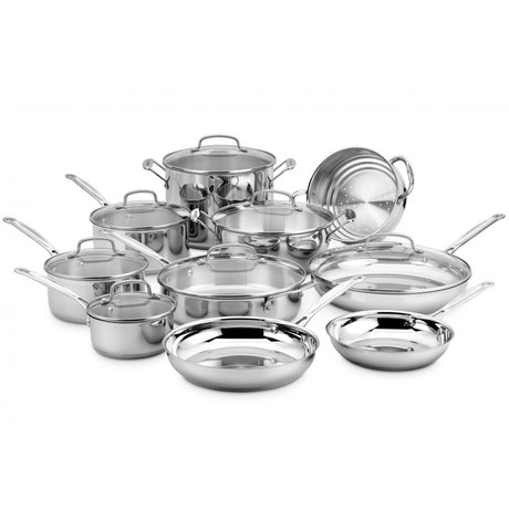 Chef's Classic Stainless Cookware Set // 17 Piece Set