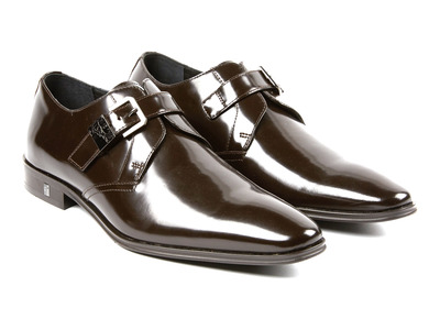 Versace Collection Upscale Sneakers & Shoes Sleek Monkstrap Derby // Brown (Euro: 42) by Touch Of Modern - Denver Outlet