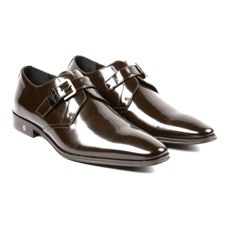 Sleek Monkstrap Derby // Brown