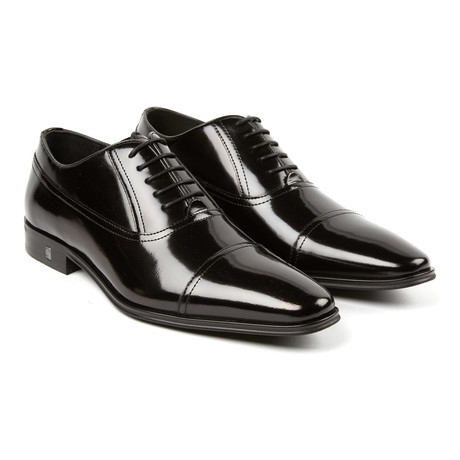 Lace-Up Long Seam Cap Toe Oxford // Black (Euro: 39)