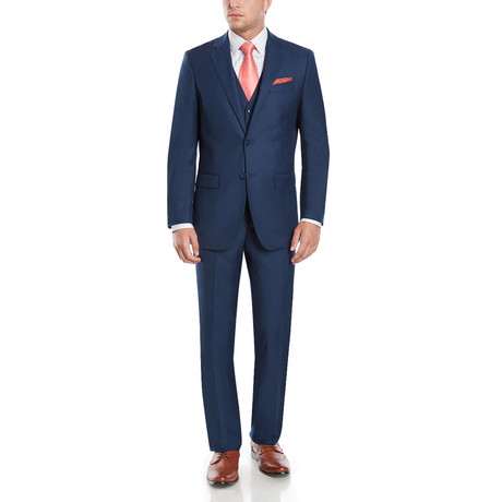 Wall Street Modern Fit Vested Suit // Blue Navy