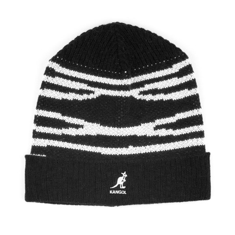 Dorsal Stripe Beanie // Black + White