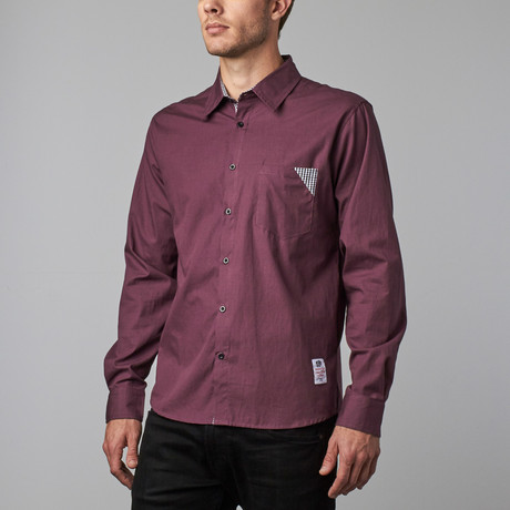 Something Shaggable Button-Up // Purple