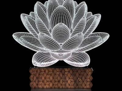 Photo of 3D Illusion Lamps LED Accent Lighting 3D Illusion Lamp // Lotus Generation 2 by Touch Of Modern