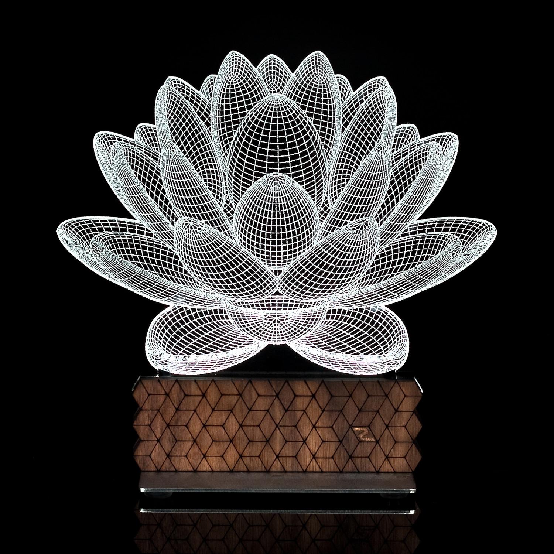 3D Illusion Lamp // Lotus Generation 2