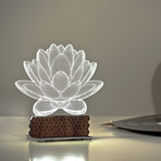 3D Illusion Lamp // Lotus Generation 2