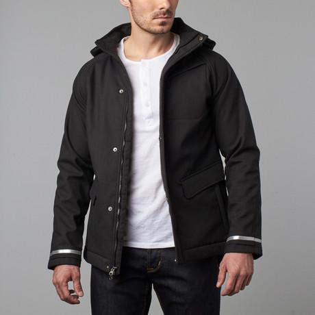 One Man Commuter Rain Jacket // Black (S)