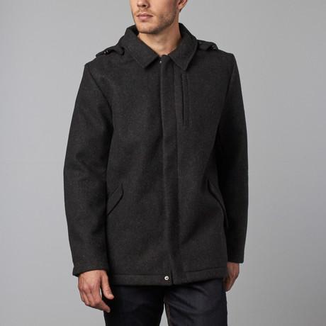 One Man Provider Waterproof Wool Coat // Black (S)
