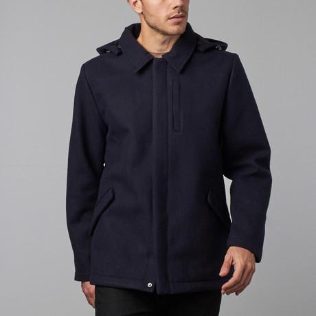 Provider Wool Coat // Navy (S)