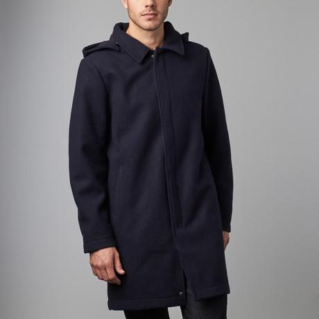Alex Wool Coat // Navy (S)