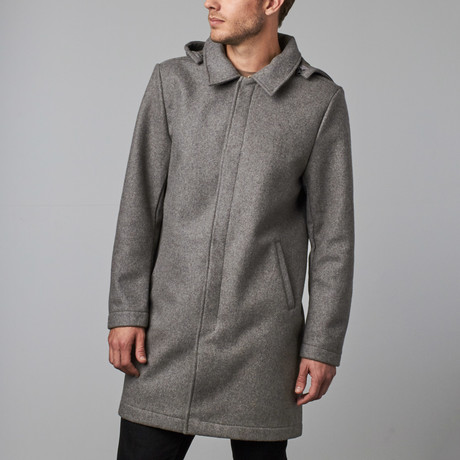 Alex Wool Coat // Light Grey (S)