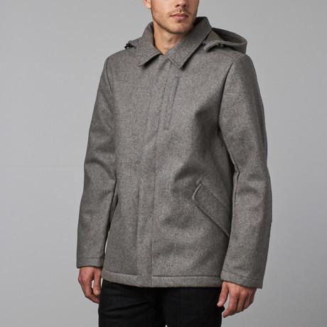 Provider Wool Coat // Light Grey (S)