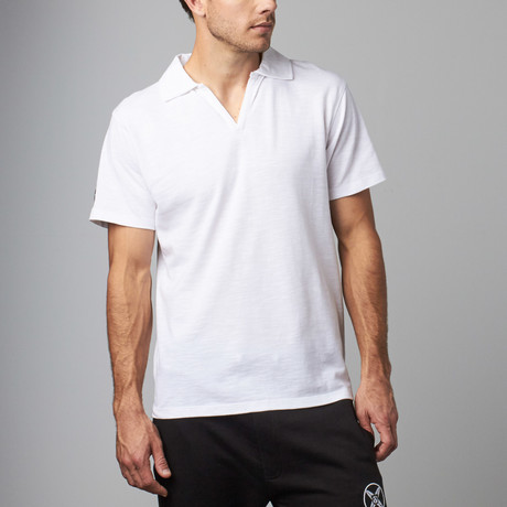V-Neck Polo // White