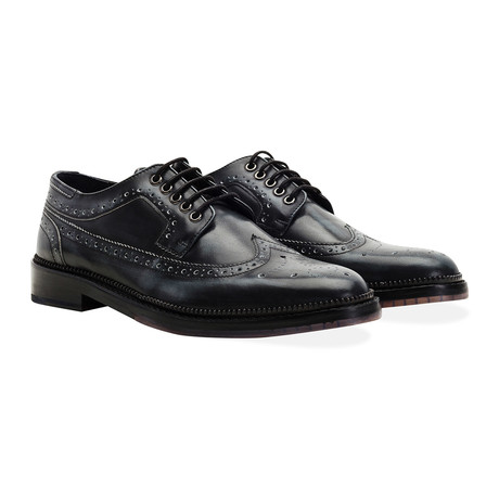 Fence Wingtip Brogue // Charcoal
