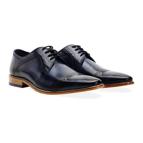 Langho Cap Toe Derby // Navy