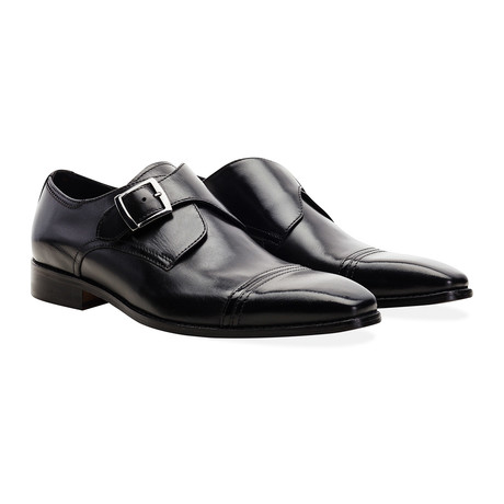 Sawley Monk Strap Dress Shoe // Black