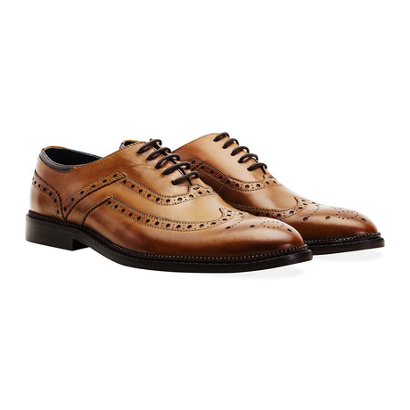 Barley Wing Tip Brogue Oxford // Tan (UK: 11)