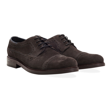 Cliviger Madallion Cap-Toe Derby // Charcoal