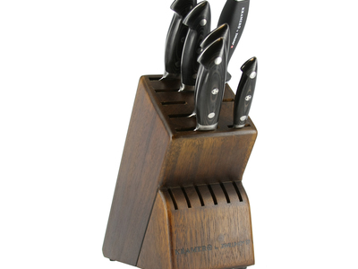 Photo of ZWILLING J.A Henckels Precision-Driven German Cutlery  Kramer // Euroline Stainless Damascus // 7-pc Knife Block Set by Touch Of Modern